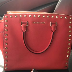 Michael kors studded bag with shoulder strap